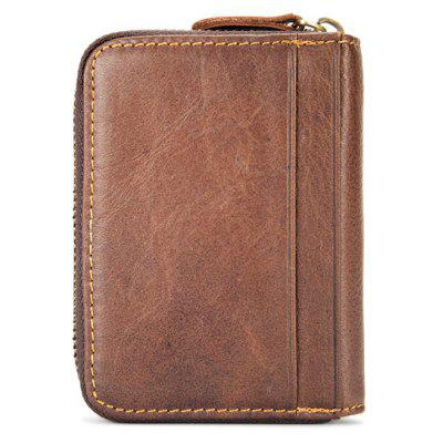 BULLCAPTAIN Zipper Around Genuine Leather Card HolderCoin Purses&amp;Holders<br>BULLCAPTAIN Zipper Around Genuine Leather Card Holder<br><br>Brand: BULLCAPTAIN<br>Closure Type: Zip<br>Features: Wearable<br>For: Traveling, Shopping, Daily Use<br>Gender: Men<br>Material: Leather<br>Package Size(L x W x H): 10.50 x 4.50 x 12.50 cm / 4.13 x 1.77 x 4.92 inches<br>Package weight: 0.2200 kg<br>Packing List: 1 x Card Holder<br>Product Size(L x W x H): 8.50 x 2.50 x 10.50 cm / 3.35 x 0.98 x 4.13 inches<br>Product weight: 0.2000 kg<br>Style: Fashion, Business<br>Type: Card Holder