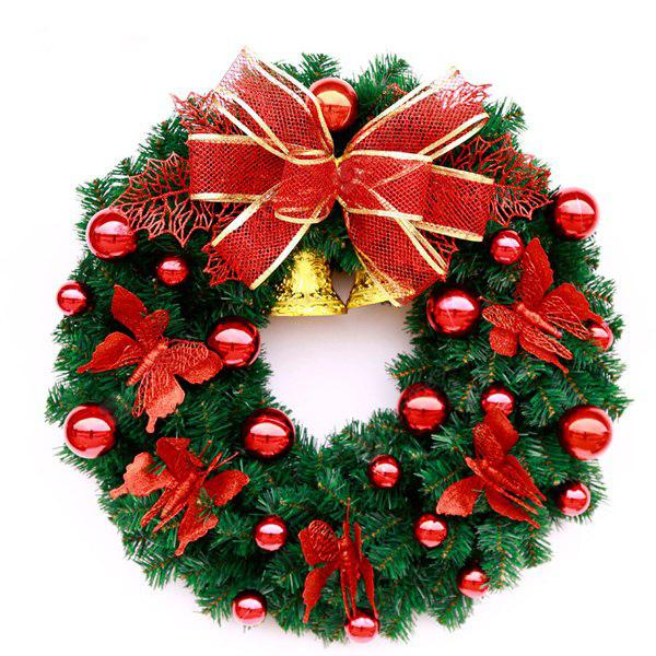 MCYH Decorative Christmas Wreath Artificial Rattan Ornament