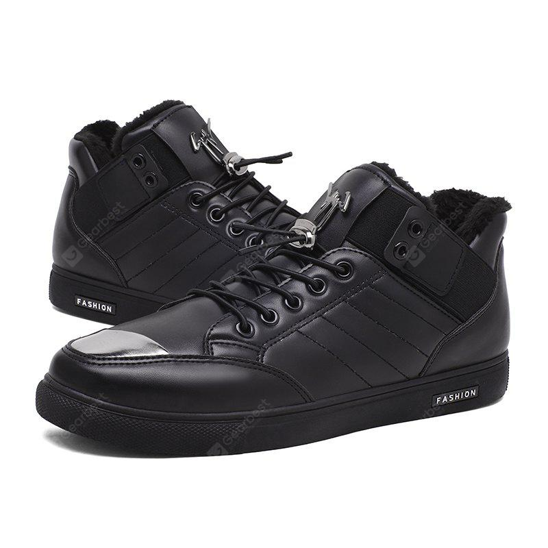 CTSmart Male Warmest Ankle-top Casual Leather Shoes