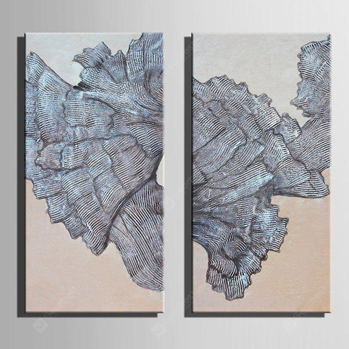 E - HOME Abstract Pattern Framed Canvas Print 2PCS