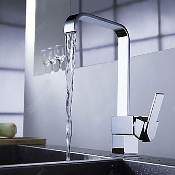 MLFALLS Single Handle Chrome Finished Kitchen Sink Faucet