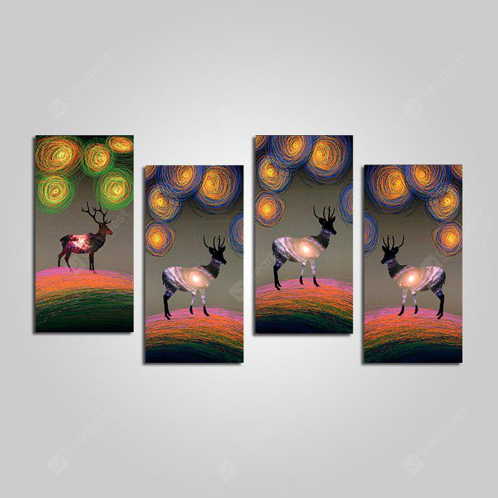 DYC 10171 Modern Canvas Prints Framed Deer Wall Art 4PCS