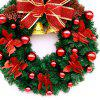 MCYH Decorative Christmas Wreath Artificial Rattan Ornament - RED