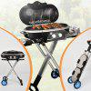 Foldable Detachable Portable Outdoor Barbecue Grill Stove - BLACK