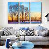 E - HOME Beautiful Scenery Framed Canvas Print 3PCS - COLORMIX