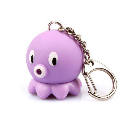 Cartoon Octopus Keychain with Light Sound Decoration Toy