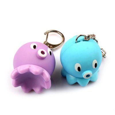 Cartoon Octopus Keychain with Light Sound Decoration ToyKey Chains<br>Cartoon Octopus Keychain with Light Sound Decoration Toy<br><br>Design Style: Fashion<br>Gender: Boys,Unisex<br>Materials: ABS<br>Package Contents: 1 x Keychain<br>Package size: 5.00 x 5.00 x 3.10 cm / 1.97 x 1.97 x 1.22 inches<br>Package weight: 0.1820 kg<br>Product size: 3.00 x 3.00 x 3.50 cm / 1.18 x 1.18 x 1.38 inches<br>Product weight: 0.0180 kg<br>Theme: Animals