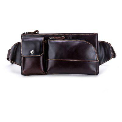 YIANG Leisure Genuine Leather Waist Bag
