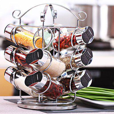 European Creative Rotating Kitchen Glass Seasoning Bottle SetOther Kitchen Accessories<br>European Creative Rotating Kitchen Glass Seasoning Bottle Set<br><br>Material: PVC, ABS, Glass, Iron, PP<br>Package Contents: 1 x Set of Seasoning Bottle<br>Package size (L x W x H): 16.00 x 16.00 x 29.00 cm / 6.30 x 6.30 x 11.42 inches<br>Package weight: 2.5000 kg<br>Product weight: 2.0000 kg<br>Type: Other Kitchen Accessories