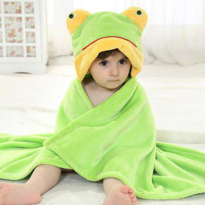 Babies Portable Multi-use Flannel Frog Design Towel Mesquite Ad b.
