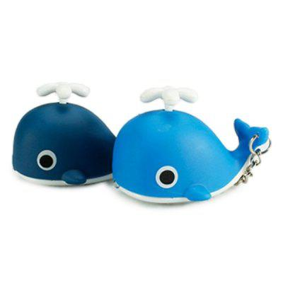Cartoon Whale Keychain with Light Sound Decoration Toy 1pc