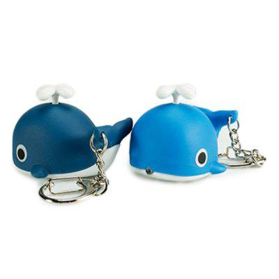 Cartoon Whale Keychain with Light Sound Decoration Toy 1pcKey Chains<br>Cartoon Whale Keychain with Light Sound Decoration Toy 1pc<br><br>Design Style: Fashion<br>Gender: Unisex<br>Materials: ABS<br>Package Contents: 1 x Keychain<br>Package size: 5.00 x 5.00 x 4.00 cm / 1.97 x 1.97 x 1.57 inches<br>Package weight: 0.0292 kg<br>Product size: 3.00 x 4.50 x 3.50 cm / 1.18 x 1.77 x 1.38 inches<br>Product weight: 0.0190 kg<br>Theme: Animals