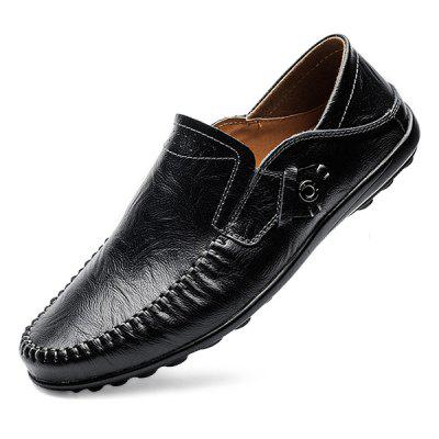 Male Super-soft Breathable Lightweight Driving Flat LoafersFlats &amp; Loafers<br>Male Super-soft Breathable Lightweight Driving Flat Loafers<br><br>Closure Type: Slip-On<br>Contents: 1 x Pair of Shoes, 1 x Box<br>Function: Slip Resistant<br>Materials: Rubber, Leather<br>Occasion: Tea Party, Party, Office, Shopping, Casual, Daily<br>Outsole Material: Rubber<br>Package Size ( L x W x H ): 31.00 x 20.00 x 13.00 cm / 12.2 x 7.87 x 5.12 inches<br>Package weight: 0.8000 kg<br>Pattern Type: Solid<br>Product weight: 0.6500 kg<br>Seasons: Autumn,Spring<br>Style: Modern, Leisure, Fashion, Comfortable, Casual<br>Toe Shape: Round Toe<br>Type: Flat Shoes<br>Upper Material: Leather