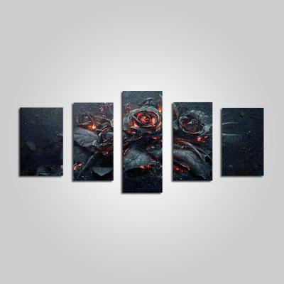 E - HOME Unframed Gloomy Roses Canvas Prints 5 unids