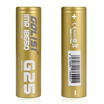 GOLISI 18650 2500mAh Li-ion Battery 2pcs