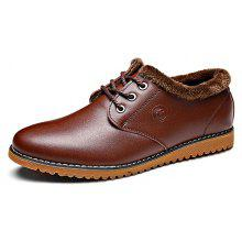 MUHUISEN Male Business Warmest Soft Dress Oxford Shoes