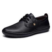 MUHUISEN Male Business Metal Decor Flat Oxford Shoes