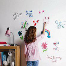 DIY Wall Stickers Washable White Board Decals