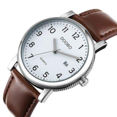Doobo Men Classic Business Leather Band Quartz Watch пресс грили