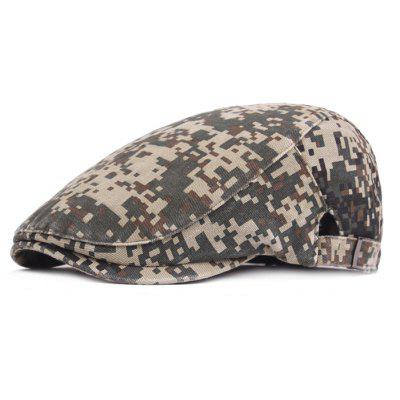 Male Keep Warm Washed Cotton Classic Beret Hat