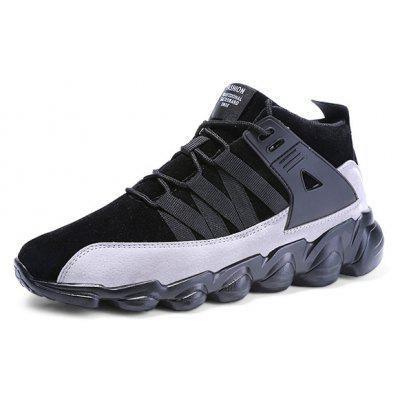 Male Street Trendy Padded Ankle Soft Athletic ShoesAthletic Shoes<br>Male Street Trendy Padded Ankle Soft Athletic Shoes<br><br>Closure Type: Lace-Up<br>Contents: 1 x Pair of Shoes, 1 x Box<br>Decoration: Split Joint<br>Function: Slip Resistant<br>Lining Material: Cotton Fabric<br>Materials: Rubber, Cotton, PU<br>Occasion: Sports, Running, Riding, Casual, Daily, Holiday, Shopping, Outdoor Clothing, Party<br>Outsole Material: Rubber<br>Package Size ( L x W x H ): 31.00 x 22.00 x 11.00 cm / 12.2 x 8.66 x 4.33 inches<br>Package weight: 0.6800 kg<br>Product weight: 0.5400 kg<br>Seasons: Autumn,Spring<br>Style: Modern, Leisure, Fashion, Comfortable, Casual<br>Toe Shape: Round Toe<br>Type: Sports Shoes<br>Upper Material: PU