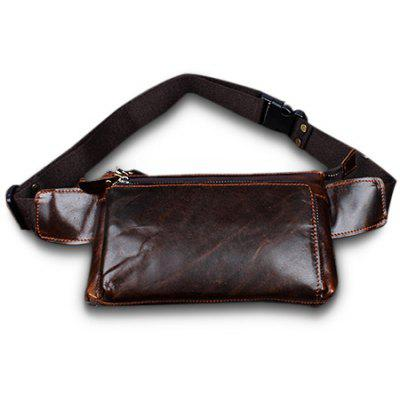 YIANG Stylish Retro Genuine Leather Waist Bag
