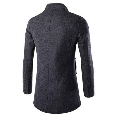 Fashion Single Breasted Solid Color Wool CoatMens Jackets &amp; Coats<br>Fashion Single Breasted Solid Color Wool Coat<br><br>Closure Type: Single Breasted<br>Clothes Type: Wool &amp; Blends<br>Collar: Stand Collar<br>Embellishment: Others<br>Materials: Chemical Fiber Blends, Polyester<br>Occasion: Daily Use<br>Package Content: 1 x Wool Coat<br>Package Dimension: 35.00 x 25.00 x 2.00 cm / 13.78 x 9.84 x 0.79 inches<br>Package weight: 0.8200 kg<br>Pattern Type: Solid<br>Product weight: 0.8000 kg<br>Seasons: Winter<br>Shirt Length: Long<br>Sleeve Length: Long Sleeves<br>Style: Fashion<br>Thickness: Medium thickness
