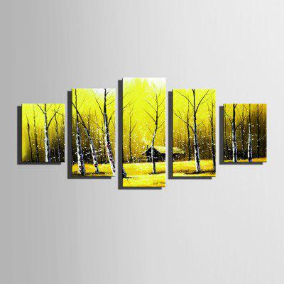 E - HOME Stampe su tela Snowscape Hanging Wall Art 5PCS