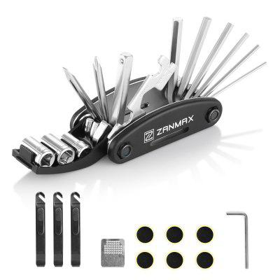 ZANMAX 3201 27 in 1 Bike Mechanic Repair Tools Kit  -  SILVER AND BLACK