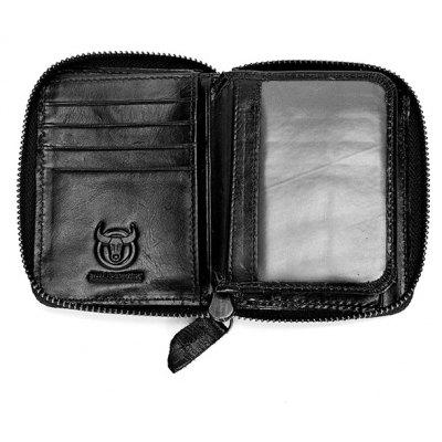 BULLCAPTAIN Men Genuine Leather Wallet