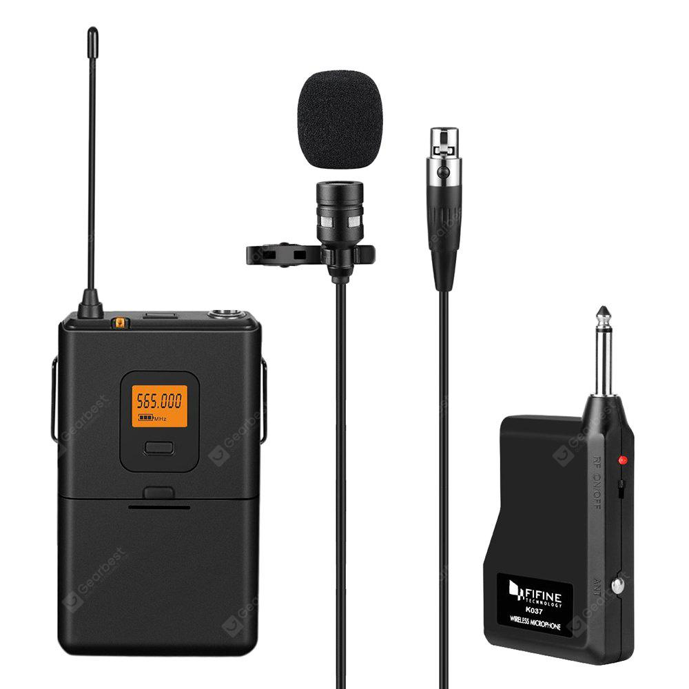 FIFINE K037 U-segment Wireless Microphone - BLACK