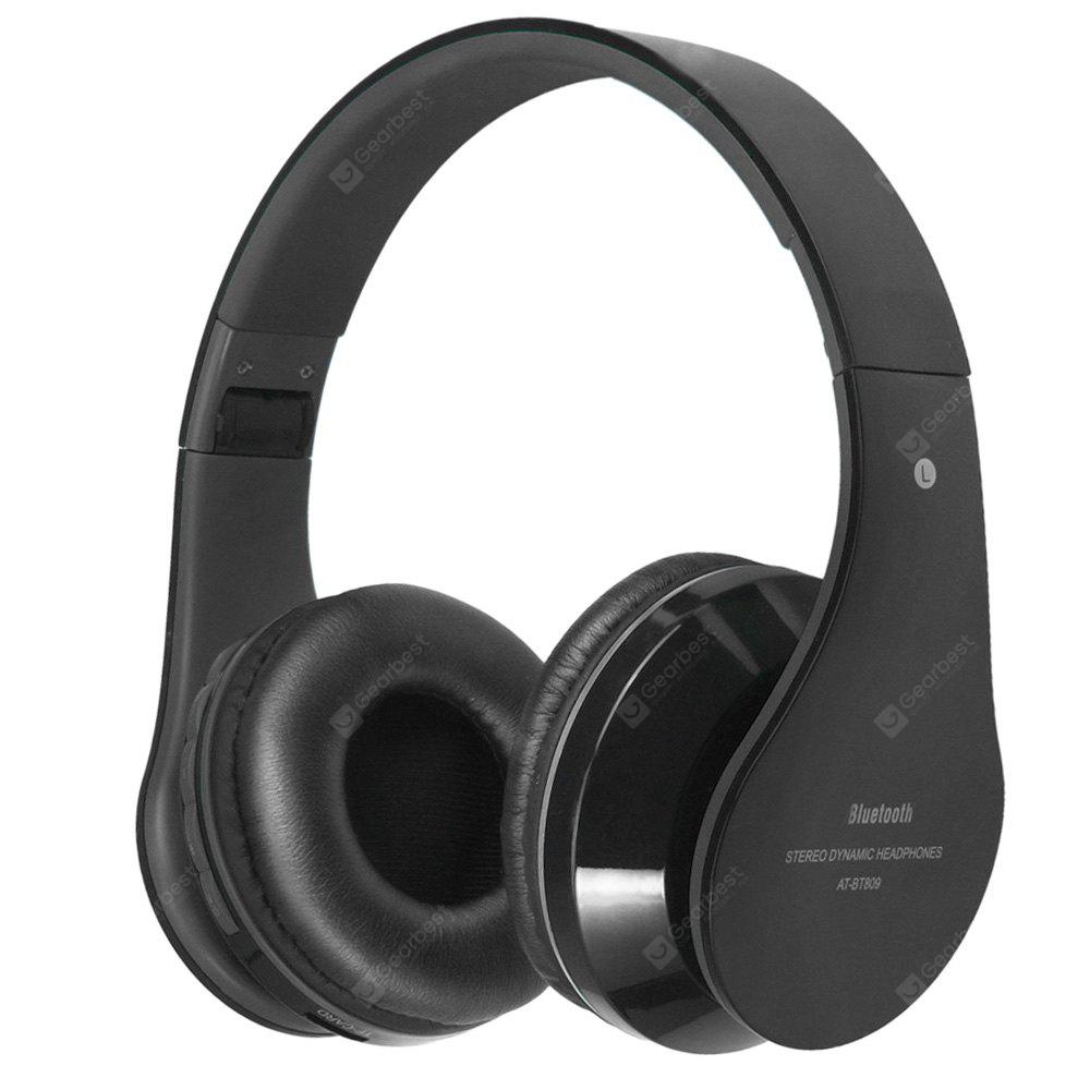 AT-BT809 Casque Stéréo Bluetooth 4.1 Pliable Extensible