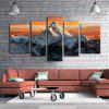 E - HOME Unframed Snow Mountain Impression sur toile 5pcs - MULTICOLORE