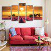 E - HOME Lavanda sin marco Sunset Canvas Prints 5pcs - COLORES MEZCLADOS