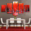 E - HOME Stampe su tela Woods Hanging Wall Art 5PCS - COLORI MISTI