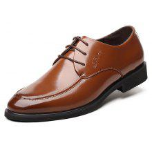 MUHUISEN Men Business Brush-off Leather Dress Shoes