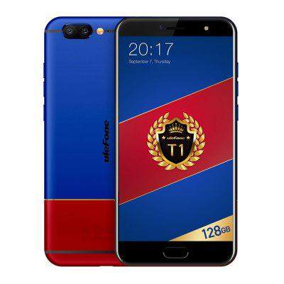 Ulefone T1 Premium Edition 4G Phablet  -  BLUE AND RED
