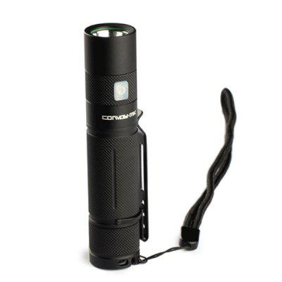 Convoy S9 CREE XML2 LED Flashlight Micro USB 4 ModesLED Flashlights<br>Convoy S9 CREE XML2 LED Flashlight Micro USB 4 Modes<br><br>Battery Included or Not: No<br>Battery Quantity: 1<br>Battery Type: 18650<br>Beam Distance: 100-150m<br>Body Material: Aluminium<br>Brand: Convoy<br>Circuitry: 1400mAh<br>Color: Black<br>Color Temperature: 5000K<br>Emitters: Cree XM-L2<br>Emitters Quantity: 1<br>Feature: Portable, Lightweight, Lanyard<br>Flashlight size: Mid size<br>Flashlight Type: Handheld<br>Function: Walking, Outdoor, Camping, Backpacking, Bike<br>Lens: Glass Lens<br>Light color: Natural White<br>Lumens Range: 500-1000Lumens<br>Luminous Flux: 580LM<br>Mode: 4(Low - Mid - High - Strobe)<br>Mode Memory: Yes<br>Model: S9<br>Package Contents: 1 x LED Flashlight, 1 x Lanyard, 1 x Back Clip<br>Package size (L x W x H): 18.00 x 9.00 x 6.00 cm / 7.09 x 3.54 x 2.36 inches<br>Package weight: 0.1500 kg<br>Power Source: Battery<br>Product size (L x W x H): 11.40 x 2.40 x 2.40 cm / 4.49 x 0.94 x 0.94 inches<br>Product weight: 0.0620 kg<br>Rechargeable: Yes<br>Switch Location: Side Switch<br>Working Voltage: 3.7V
