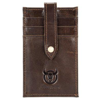 BULLCAPTAIN Men Slim Genuine Leather Card Holder