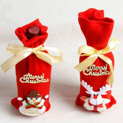 Christmas Decorations Winebottle Cover 2PCS