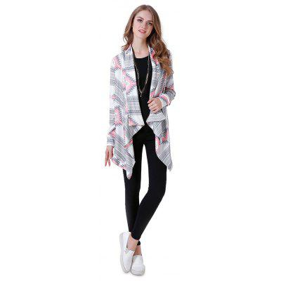 Female Charm Wrap Printed Open Front Cardigan Sweater