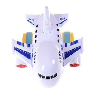 Cartoon Funny Two-way Inertial Aircraft Toy for Children