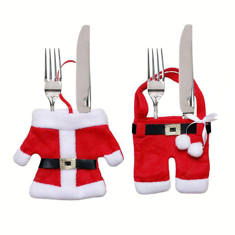Christmas Tableware Ornaments Knife Fork Cover 2pcs