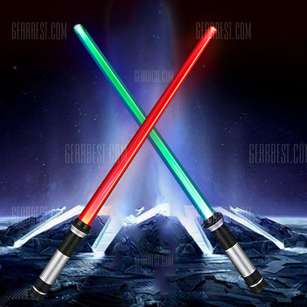 YWXLight Double Sided RGB LED Light Sword 2PCS - SILVER