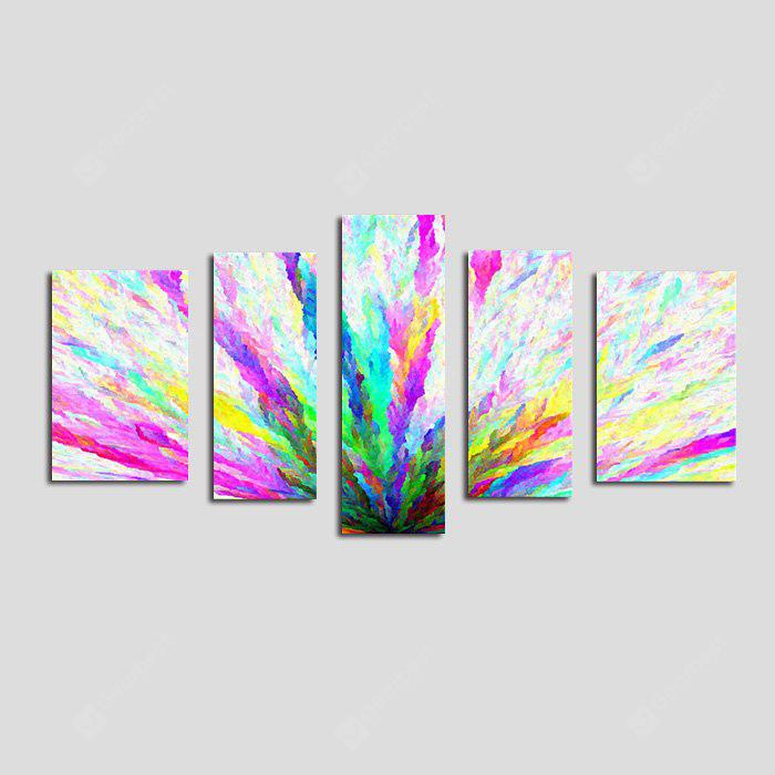 E - HOME Canvas Prints Abstract Hanging Wall Art 5PCS