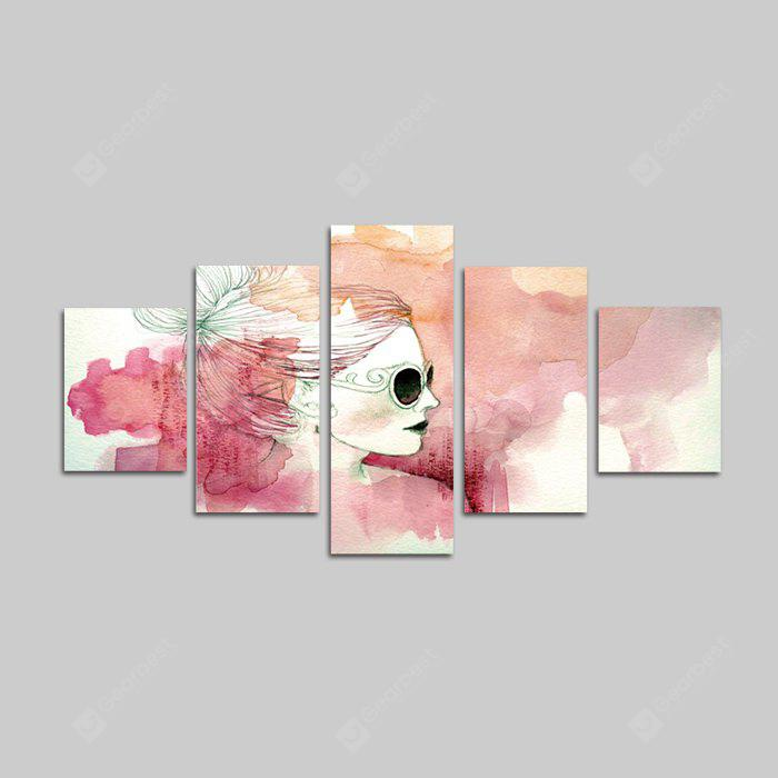 Dio Pittura Stampe su tela Donna Hanging Wall Art 5PCS