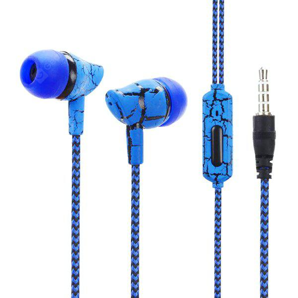 H30 Crack Pattern Braided Wire 3.5mm In-Ear Headphone