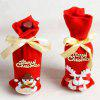Christmas Decorations Winebottle Cover 2PCS - ROUGE
