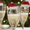 Christmas Hat Wine Glass Decoration 10PCS - RED