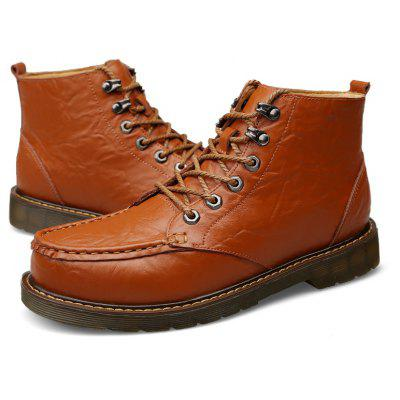 Genuine Leather Lace-up Martin Boots for MenMens Boots<br>Genuine Leather Lace-up Martin Boots for Men<br><br>Closure Type: Lace-Up<br>Contents: 1 x Pair of Boots, 1 x Box, 1 x Dustproof Paper<br>Materials: Rubber, Genuine Leather<br>Occasion: Casual, Daily<br>Outsole Material: Rubber<br>Package Size ( L x W x H ): 33.00 x 22.00 x 11.00 cm / 12.99 x 8.66 x 4.33 inches<br>Package weight: 1.0500 kg<br>Pattern Type: Solid<br>Product weight: 0.9000 kg<br>Seasons: Autumn,Spring,Winter<br>Style: Comfortable, Casual<br>Type: Boots<br>Upper Material: Genuine Leather
